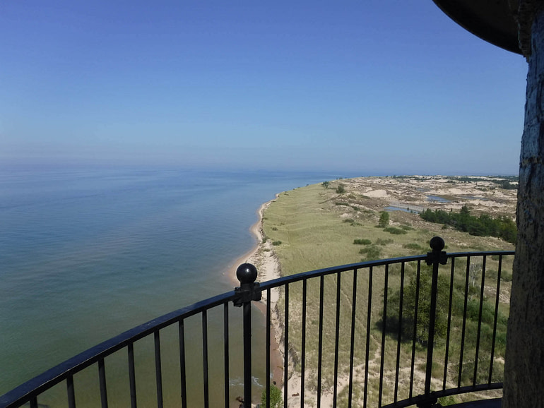 view from Ludington lighthouse