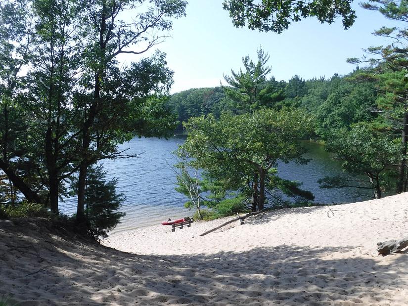 dune near lake