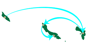 ABC islands map