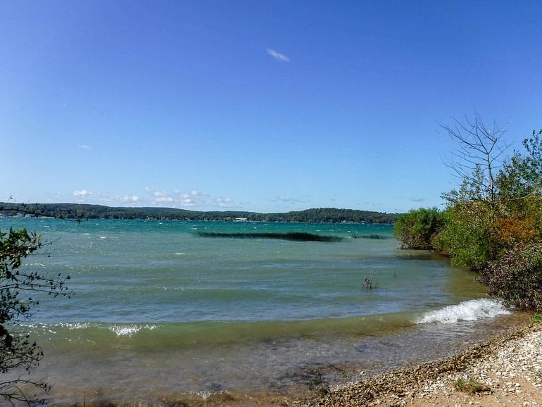 whitecaps on Lake Charlevoix