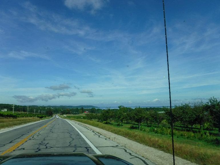 road on Mission peninsula