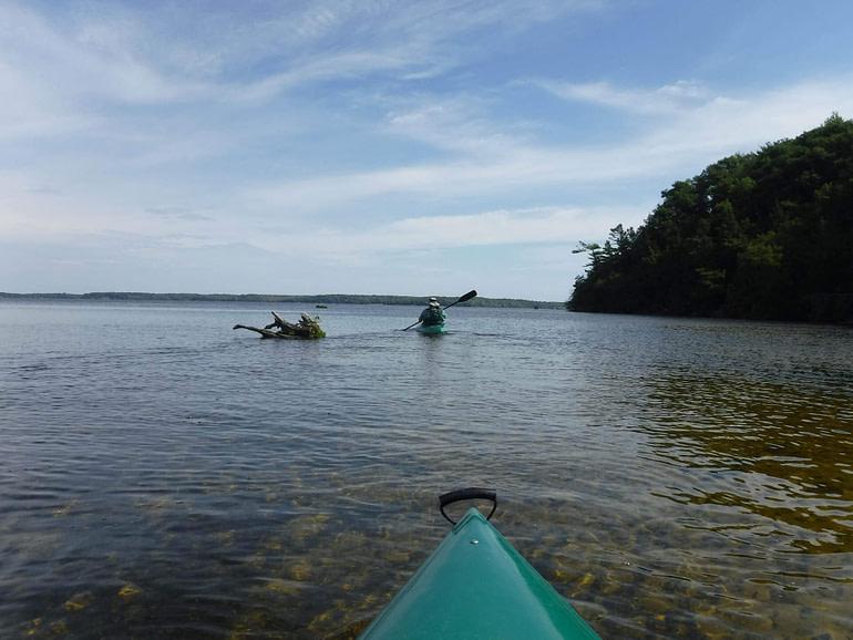 kayak on Hamlin Lake