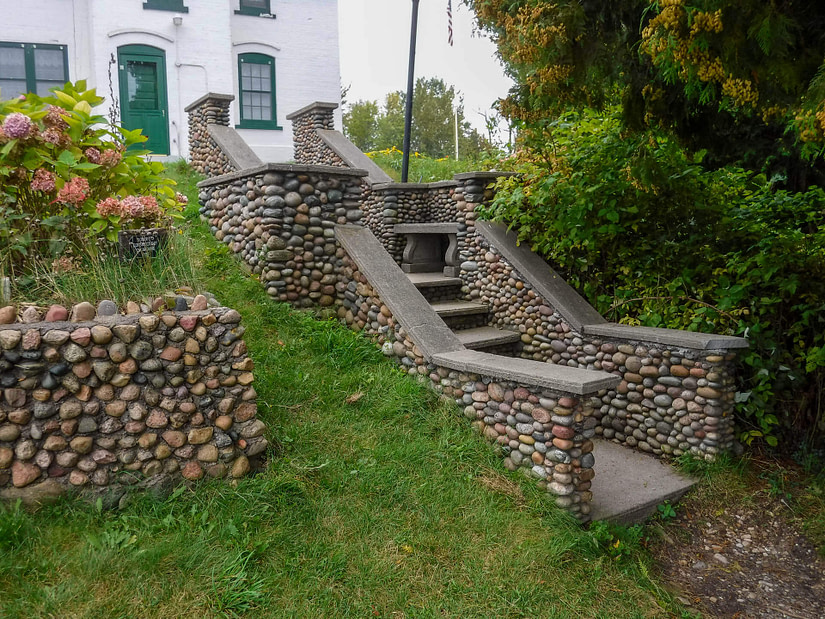 stairs at lighthouse on Leelanau