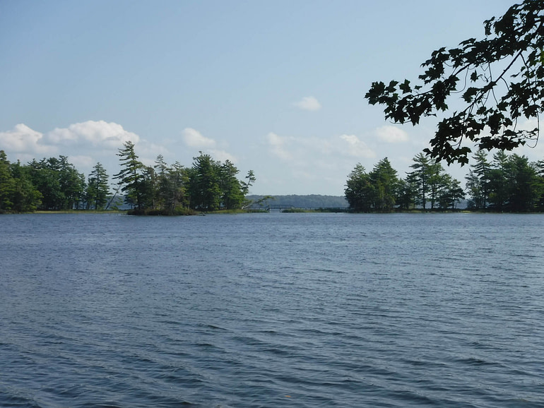 looking over Lost Lake to Hamlin Lake