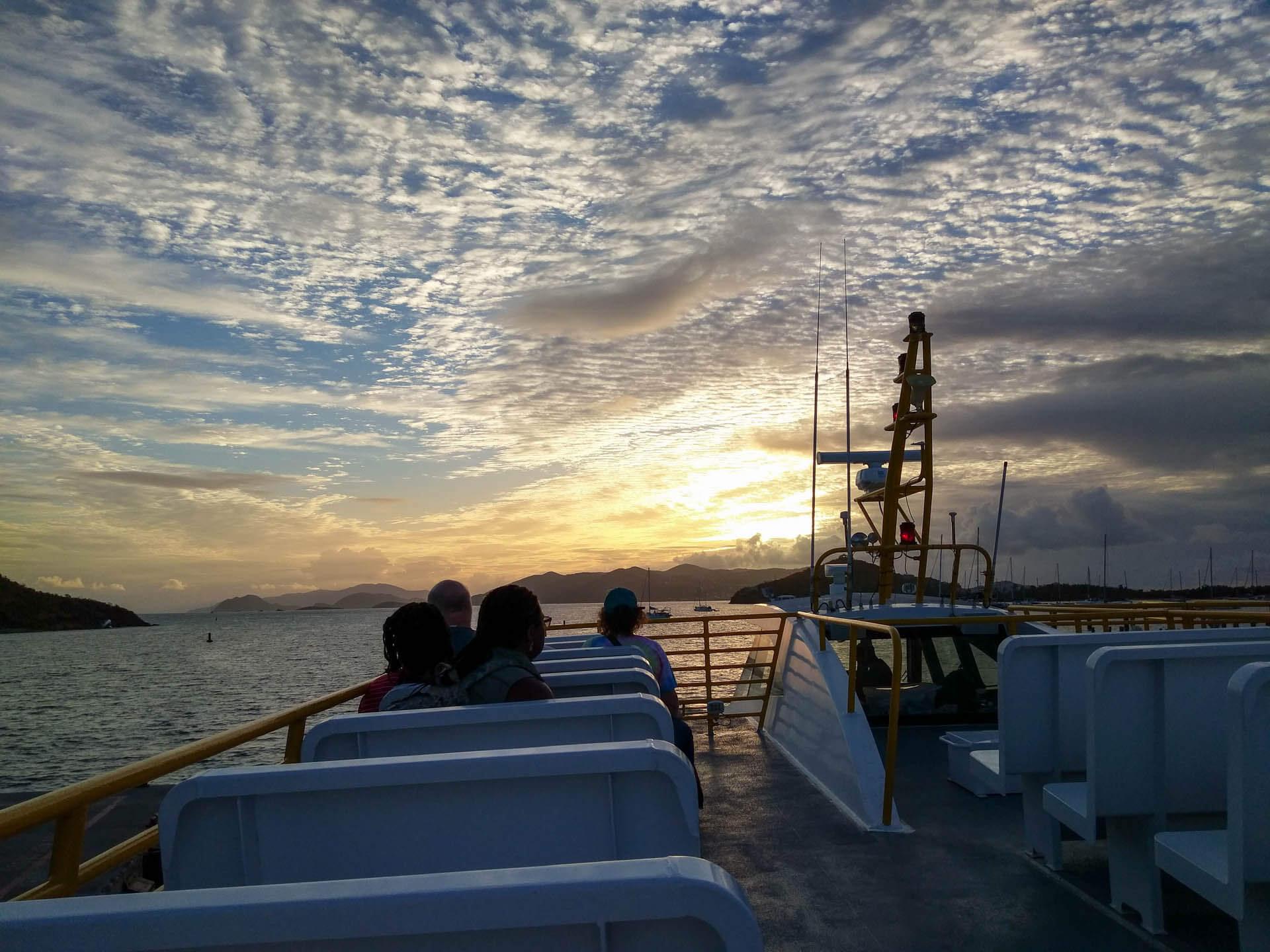 Virgin Islands ferry view