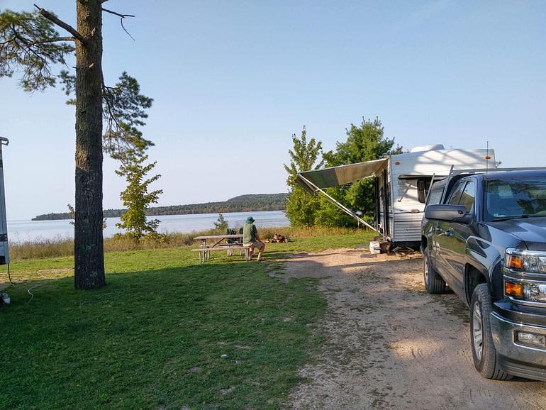 our campsite at Munising