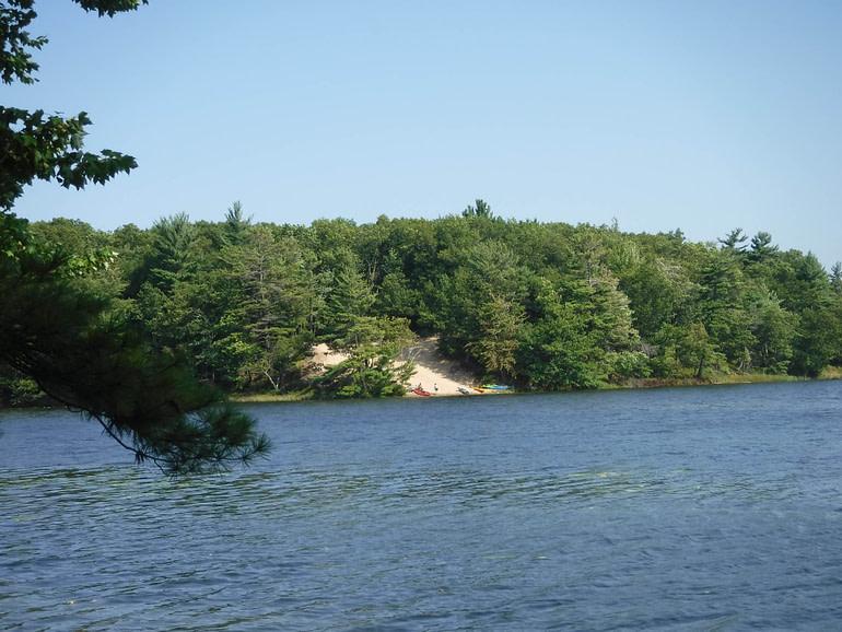 beach on Lost Lake