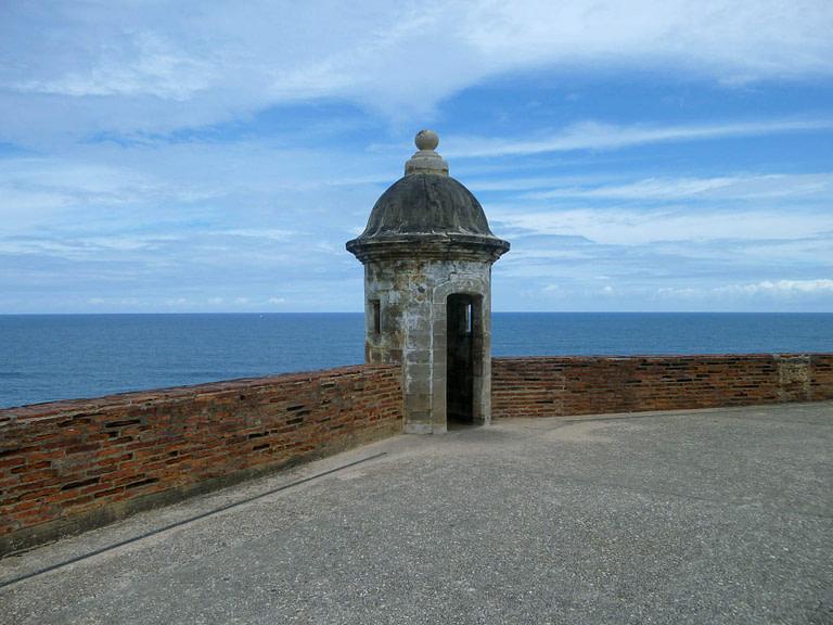 fort overlooking water