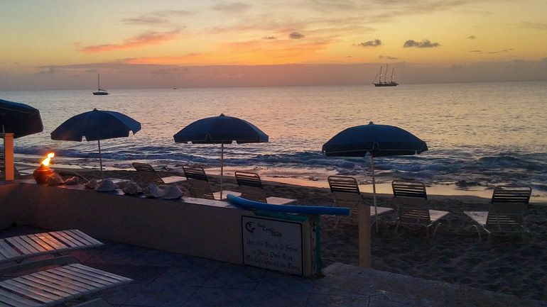sunset at Sandcastle