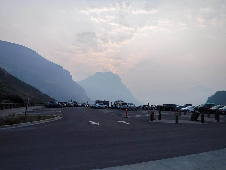 Logan Pass parking