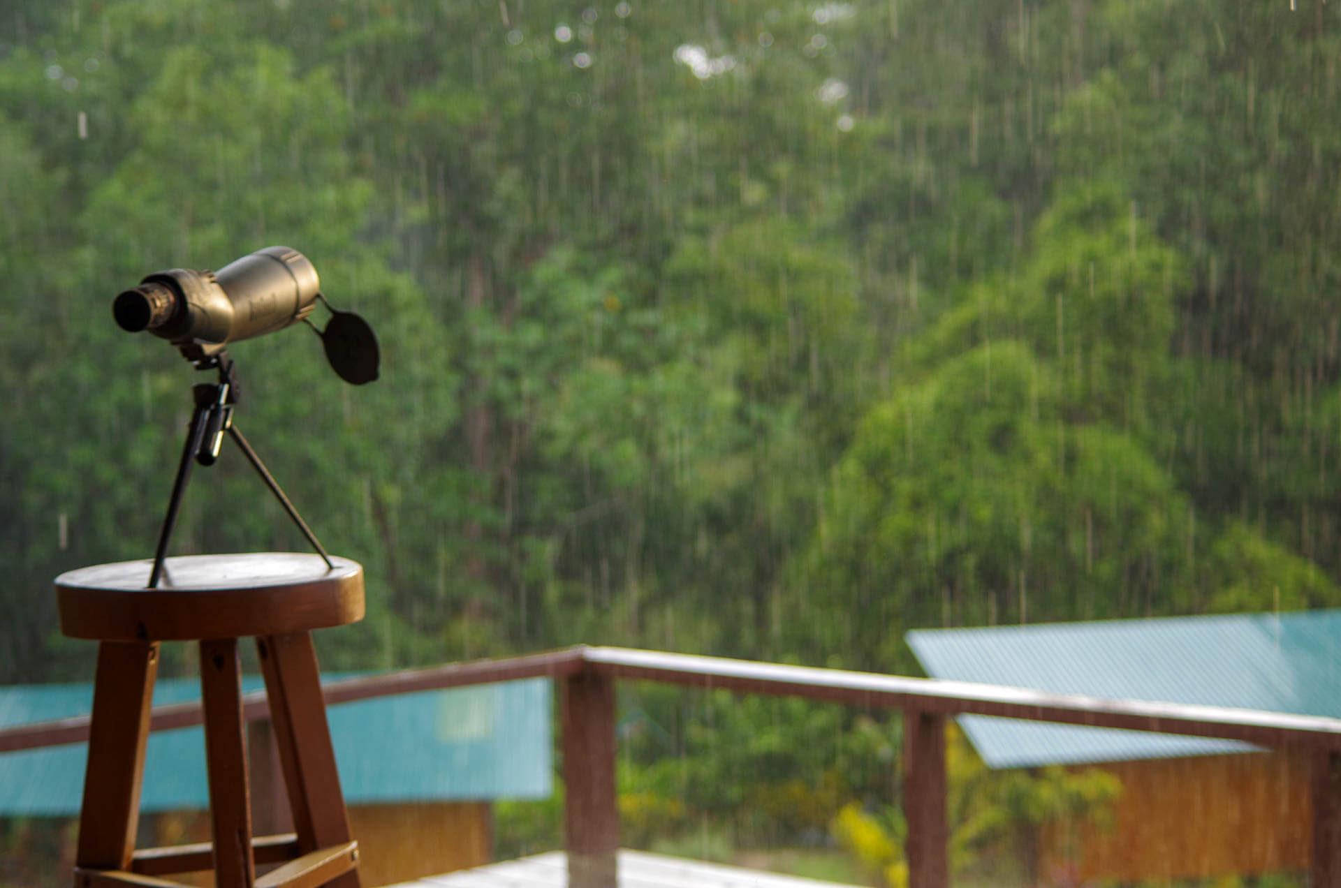 guide scope in rain