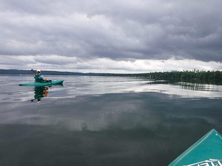 kayak on Duck Lake