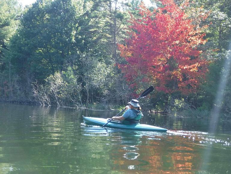 fall foliage and kayak