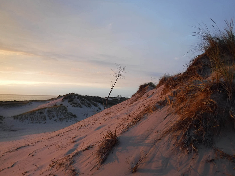 sunset on sand