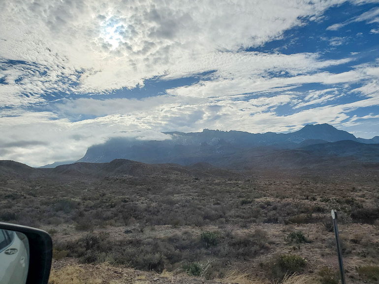 Chisos Mountains and clouds