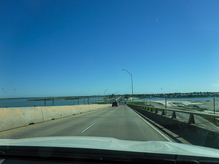 on the road to Port Aransas