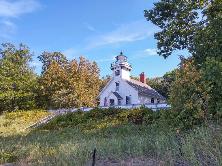 lighthouse on Mission peninsula