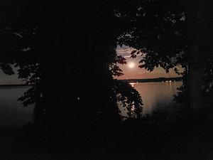 moon over Duck Lake