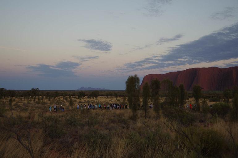 Uluru and Kata Tjuta at sunrise