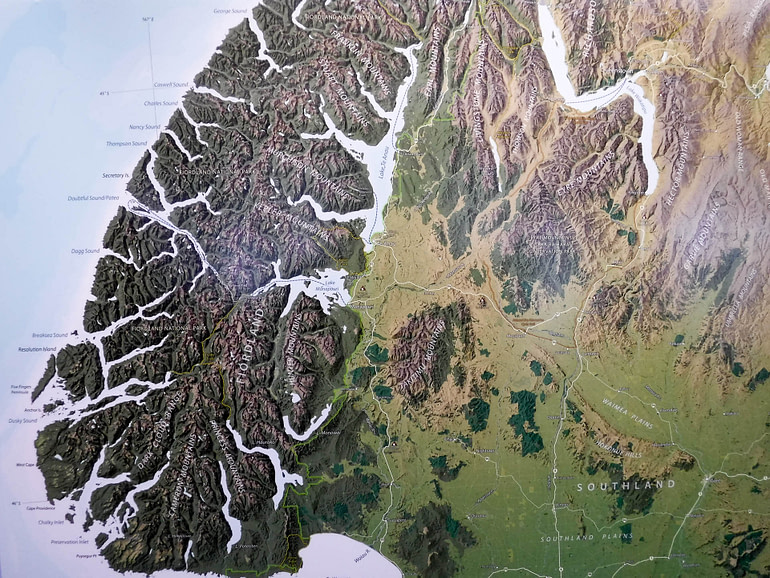 Fjordland map