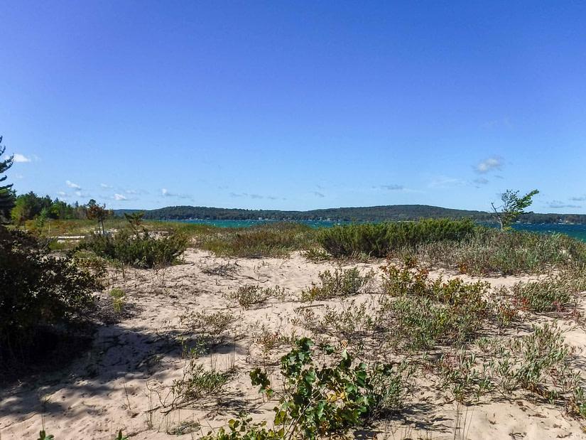 dunes at Lake Charlevoix