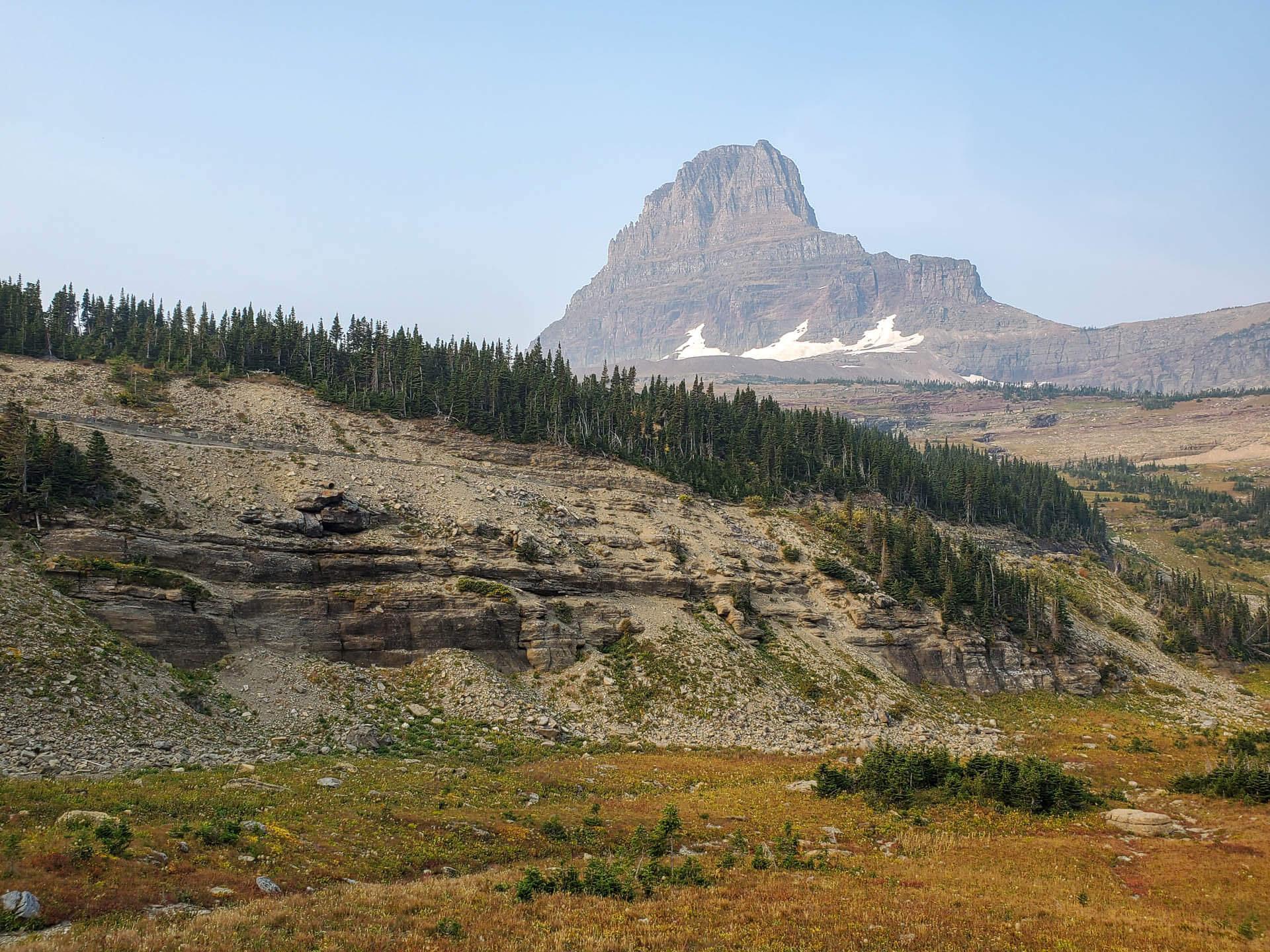 mountain peak with glaciers