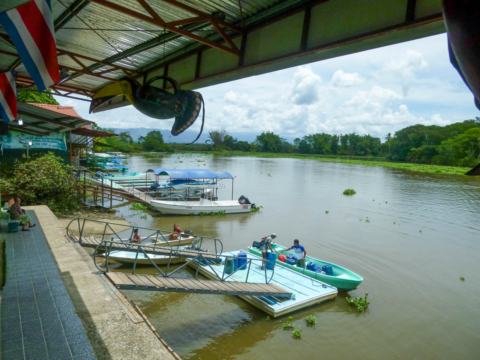 boats on Sierpe river